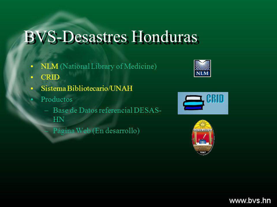 BVS-Desastres Honduras