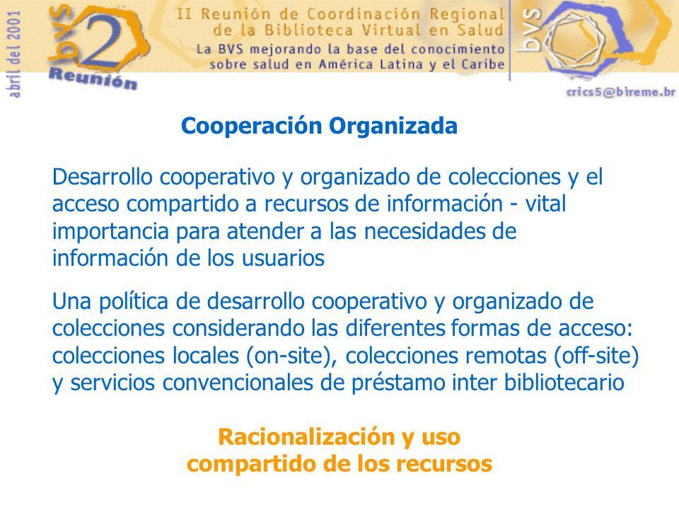 Cooperación Organizada