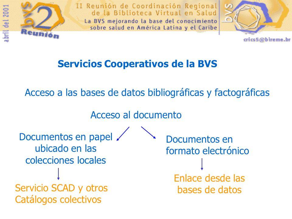 Servicios Cooperativos de la BVS