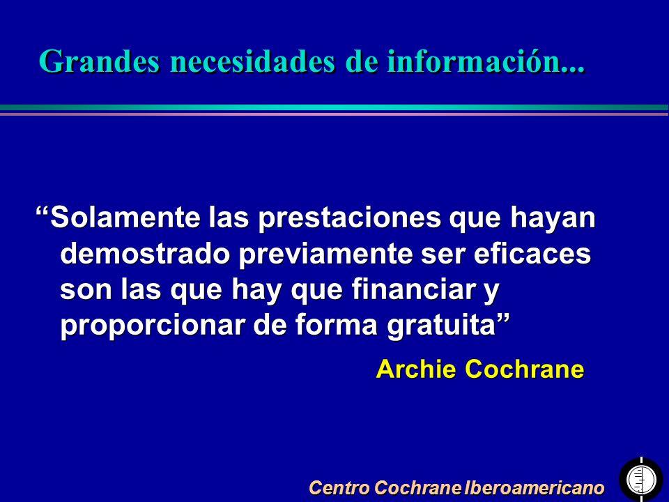 Grandes necesidades de información...
