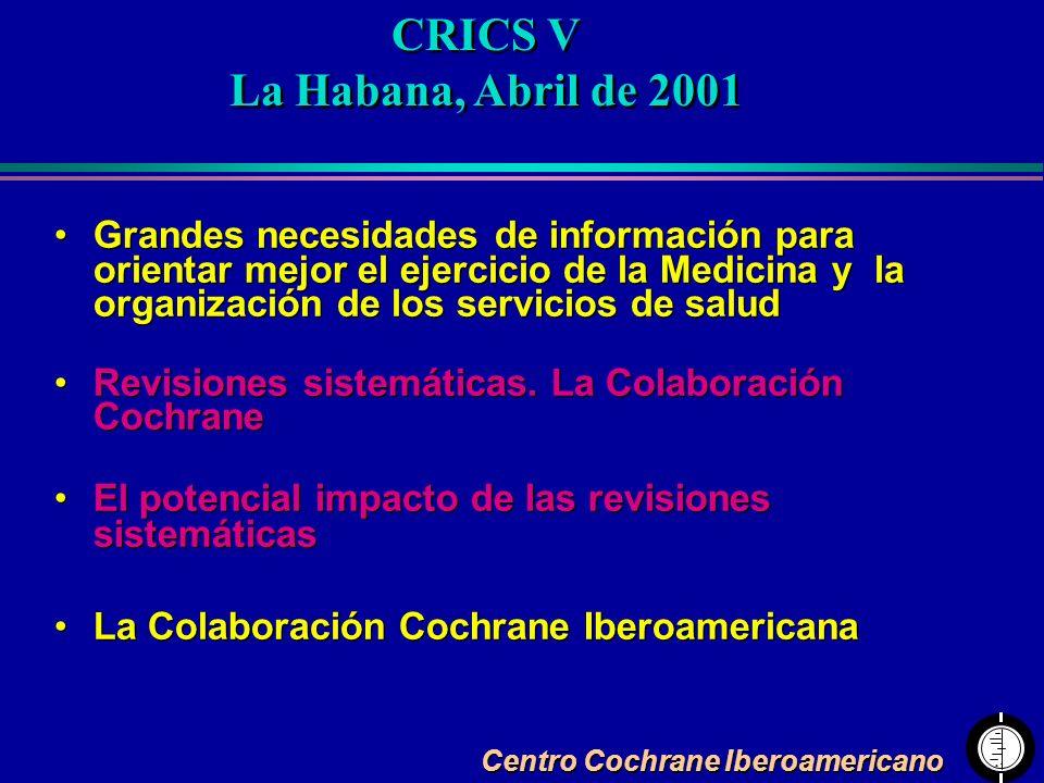 CRICS V La Habana, Abril de 2001