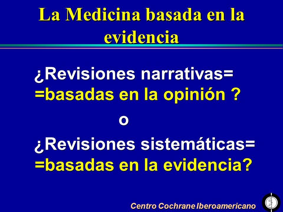 La Medicina basada en la evidencia