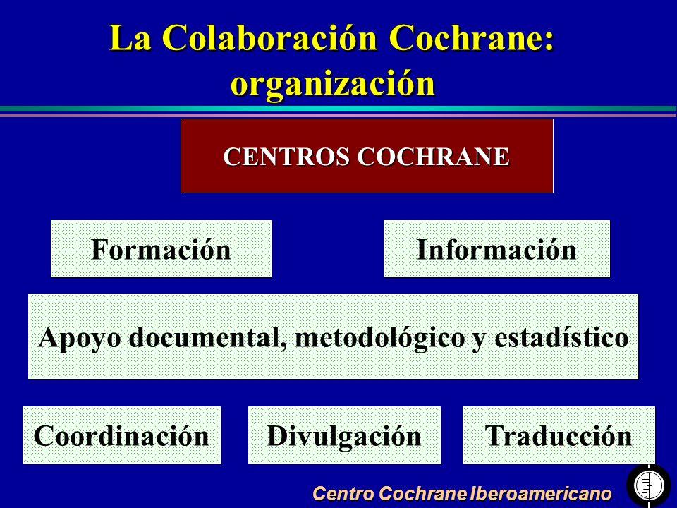 La Colaboración Cochrane: Apoyo documental, metodológico y estadístico