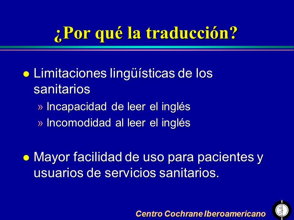 ¿Por qué la traducción Limitaciones lingüísticas de los sanitarios