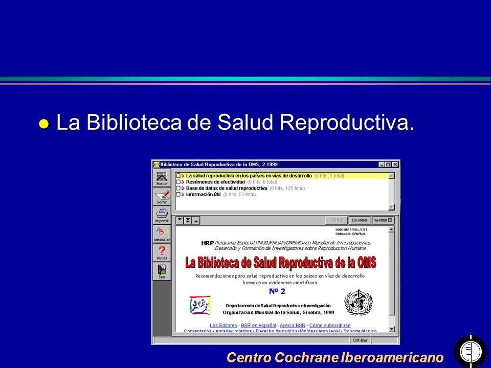 La Biblioteca de Salud Reproductiva.