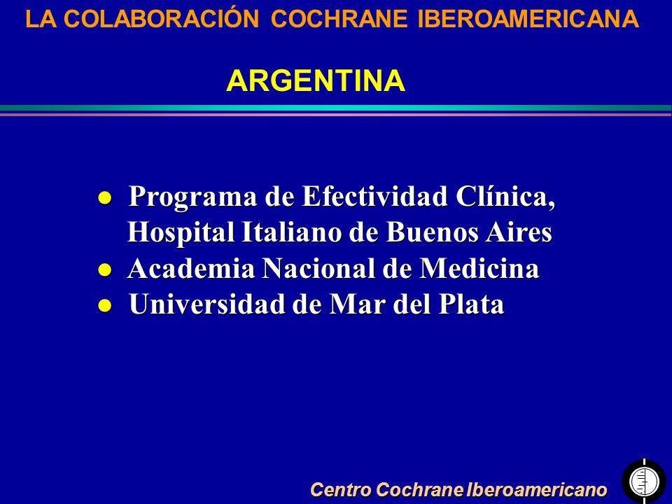 Programa de Efectividad Clínica, Hospital Italiano de Buenos Aires