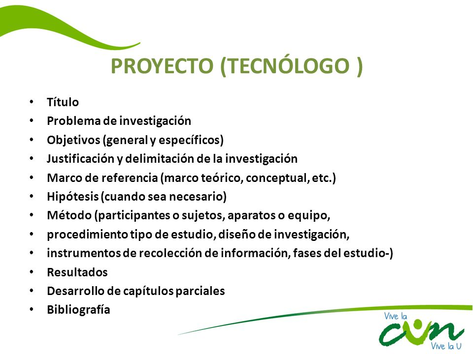 PROYECTO (TECNÓLOGO ) Título Problema de investigación