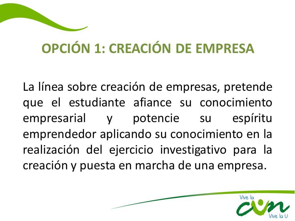 OPCIÓN 1: CREACIÓN DE EMPRESA