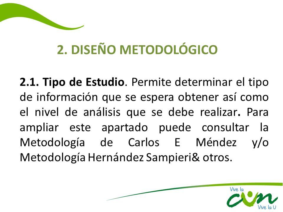 2. DISEÑO METODOLÓGICO
