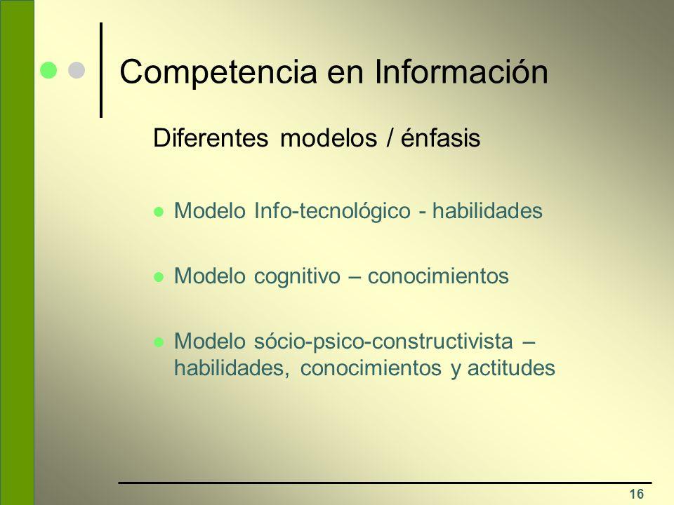 Competencia en Información