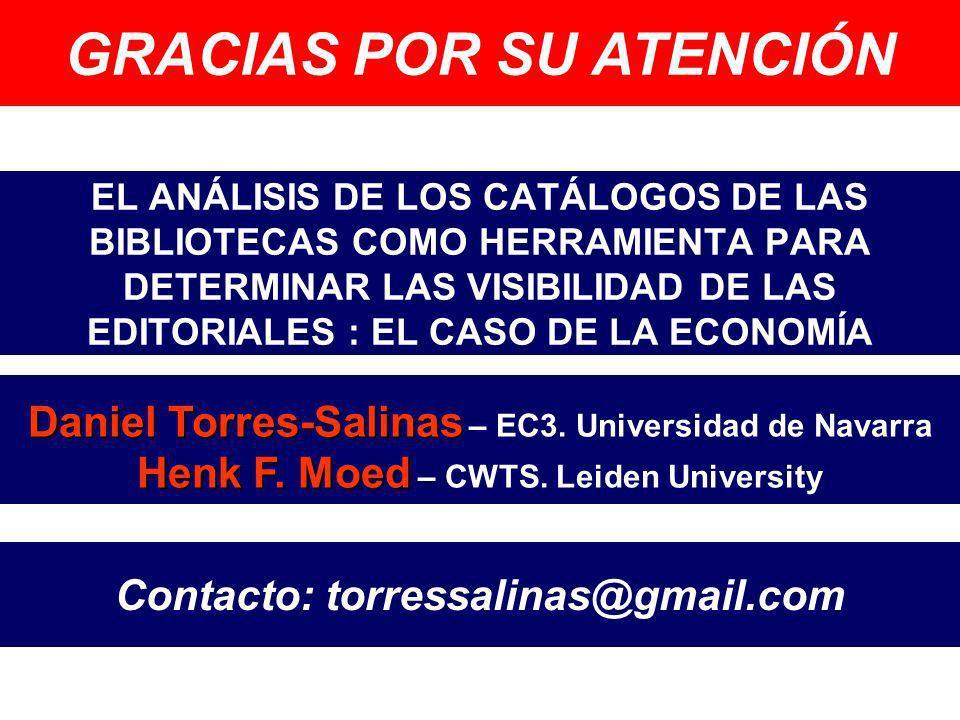 GRACIAS POR SU ATENCIÓN Contacto: torressalinas@gmail.com