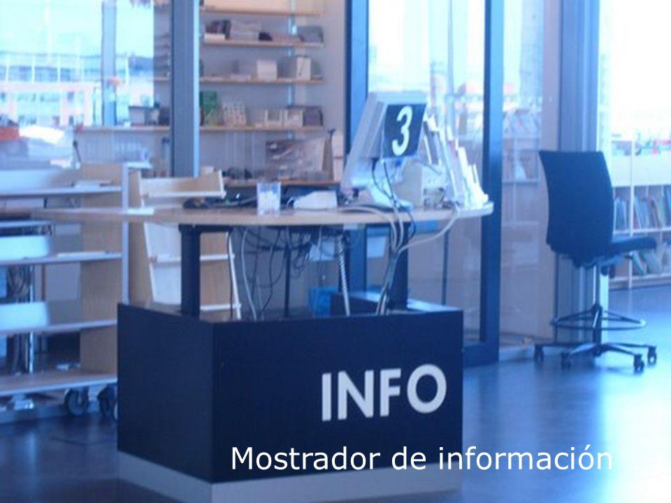 Personal de apoyo informático Mostrador de información