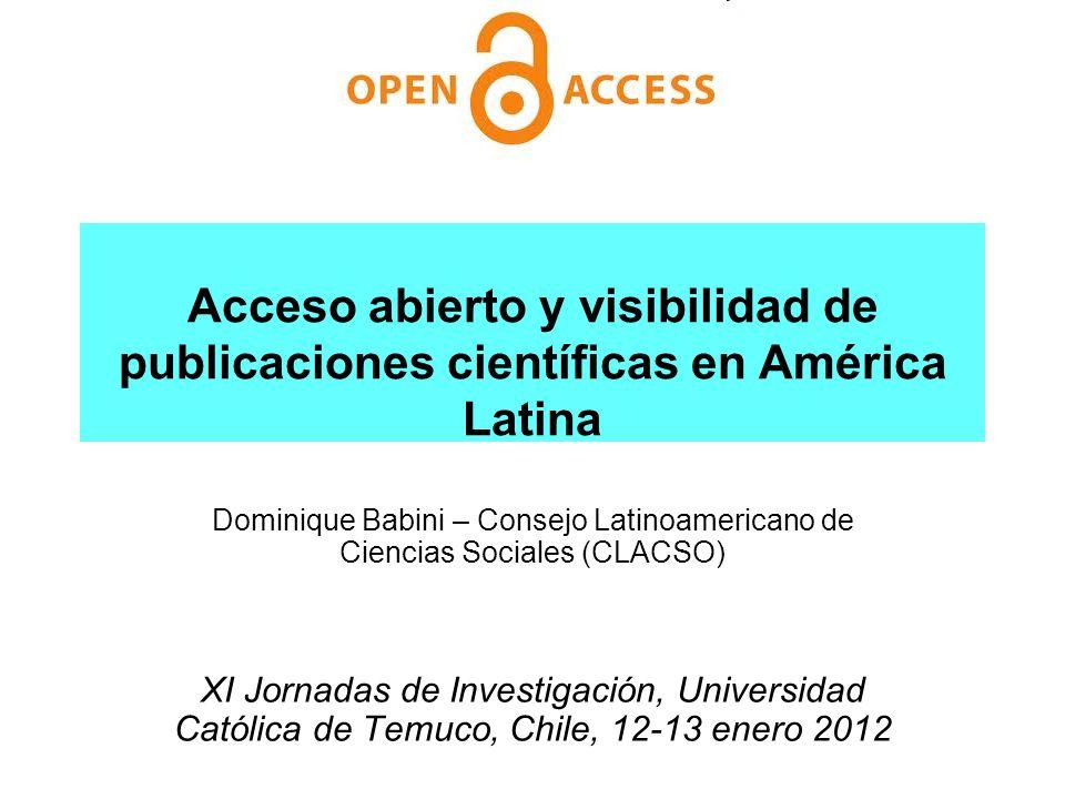 Acceso abierto y visibilidad de publicaciones científicas en América Latina