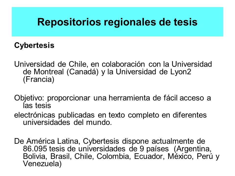 Repositorios regionales de tesis