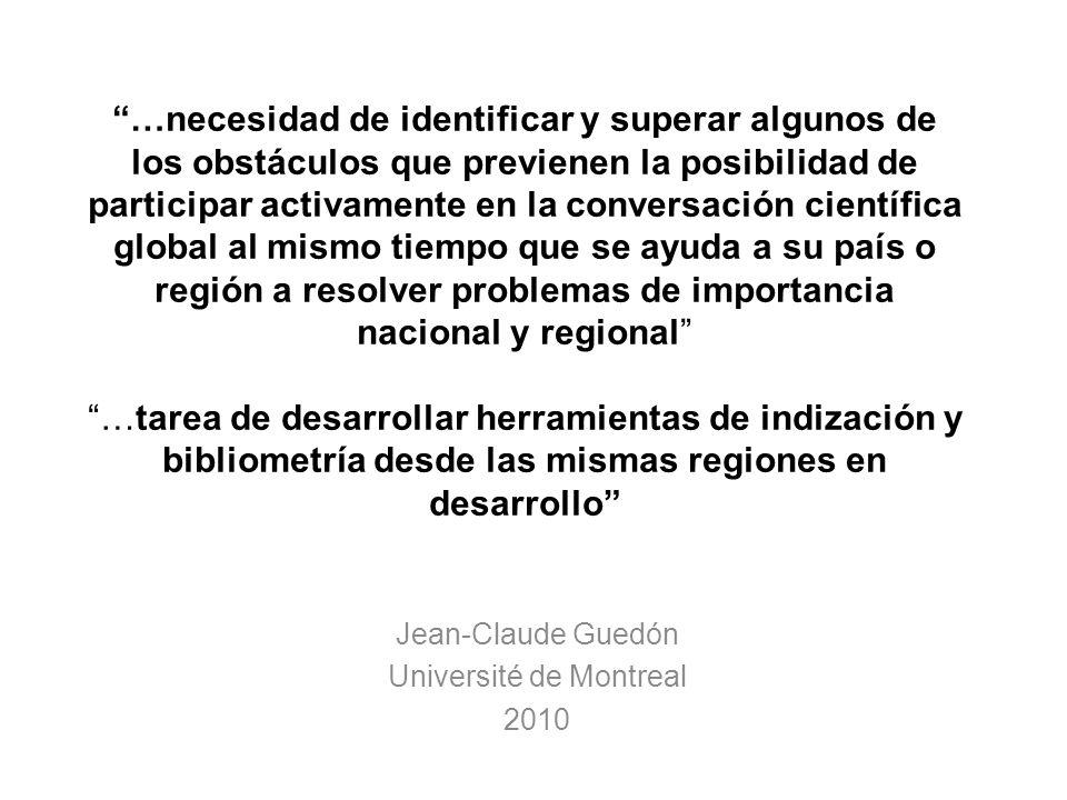 Jean-Claude Guedón Université de Montreal 2010
