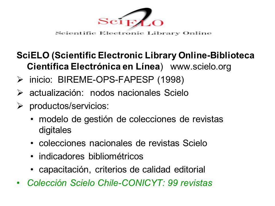 SciELO (Scientific Electronic Library Online-Biblioteca Científica Electrónica en Línea) www.scielo.org