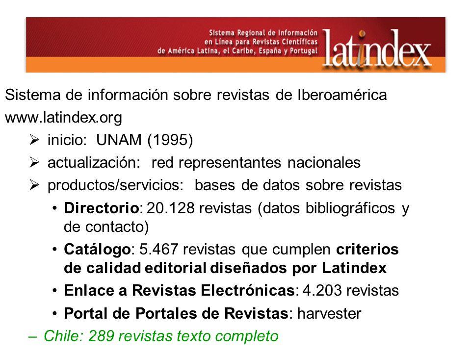 Sistema de información sobre revistas de Iberoamérica