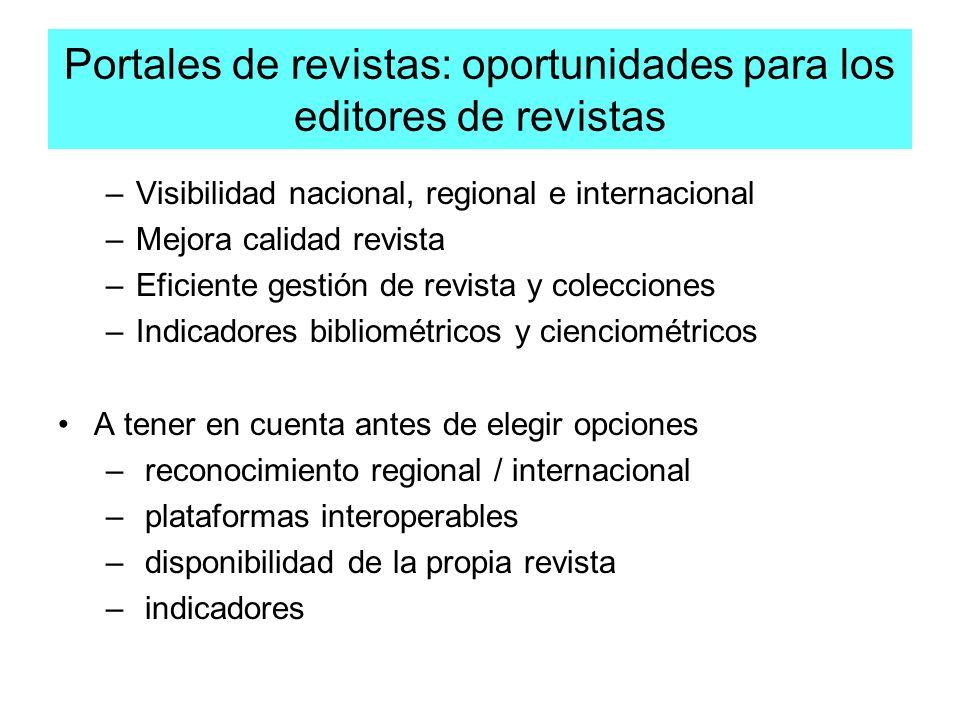 Portales de revistas: oportunidades para los editores de revistas