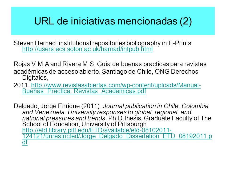 URL de iniciativas mencionadas (2)