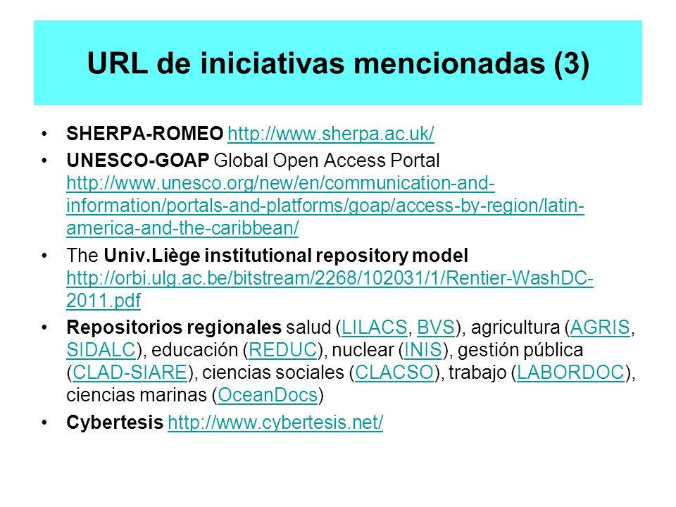 URL de iniciativas mencionadas (3)
