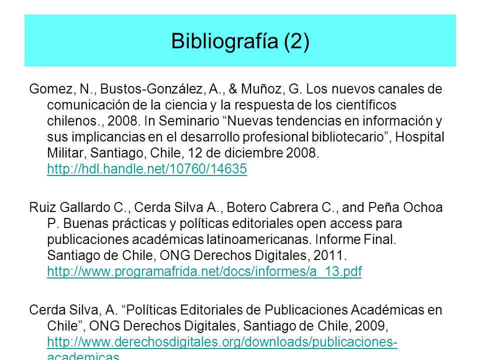 Bibliografía (2)