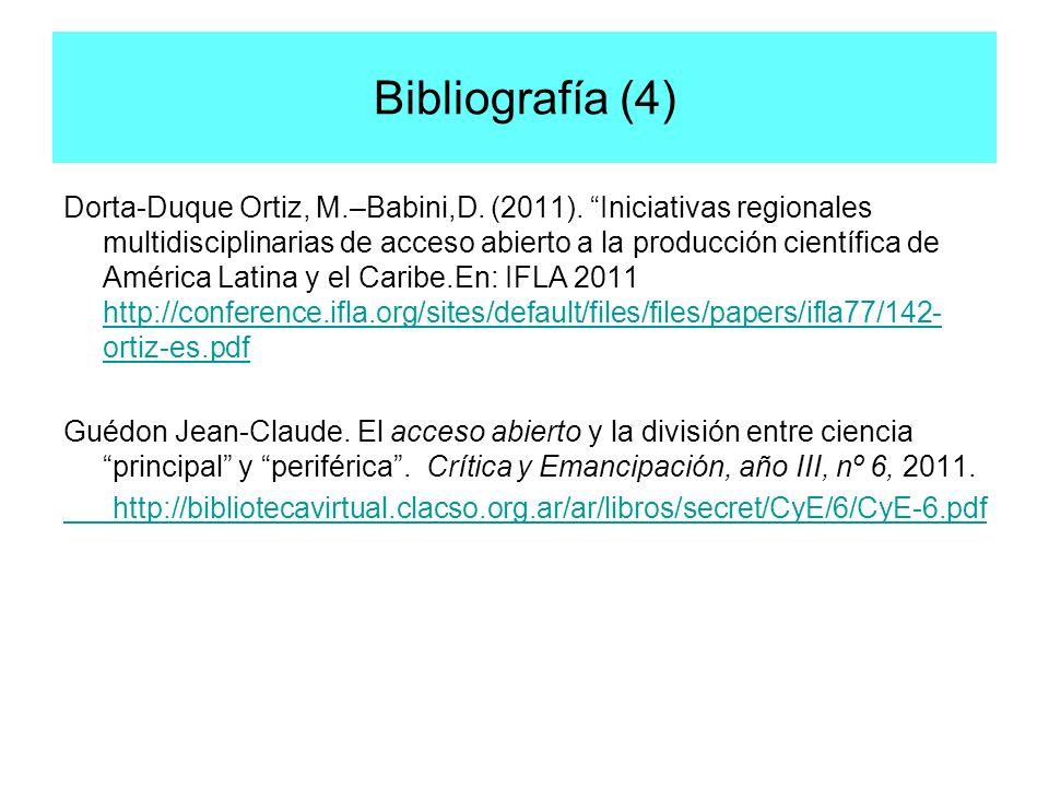 Bibliografía (4)