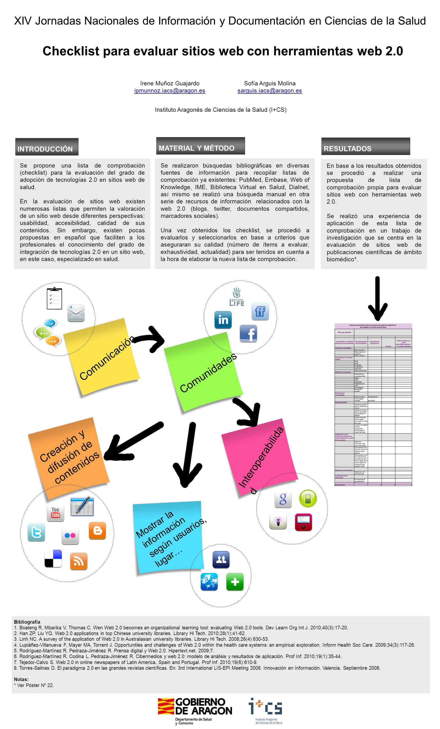 Checklist para evaluar sitios web con herramientas web 2.0