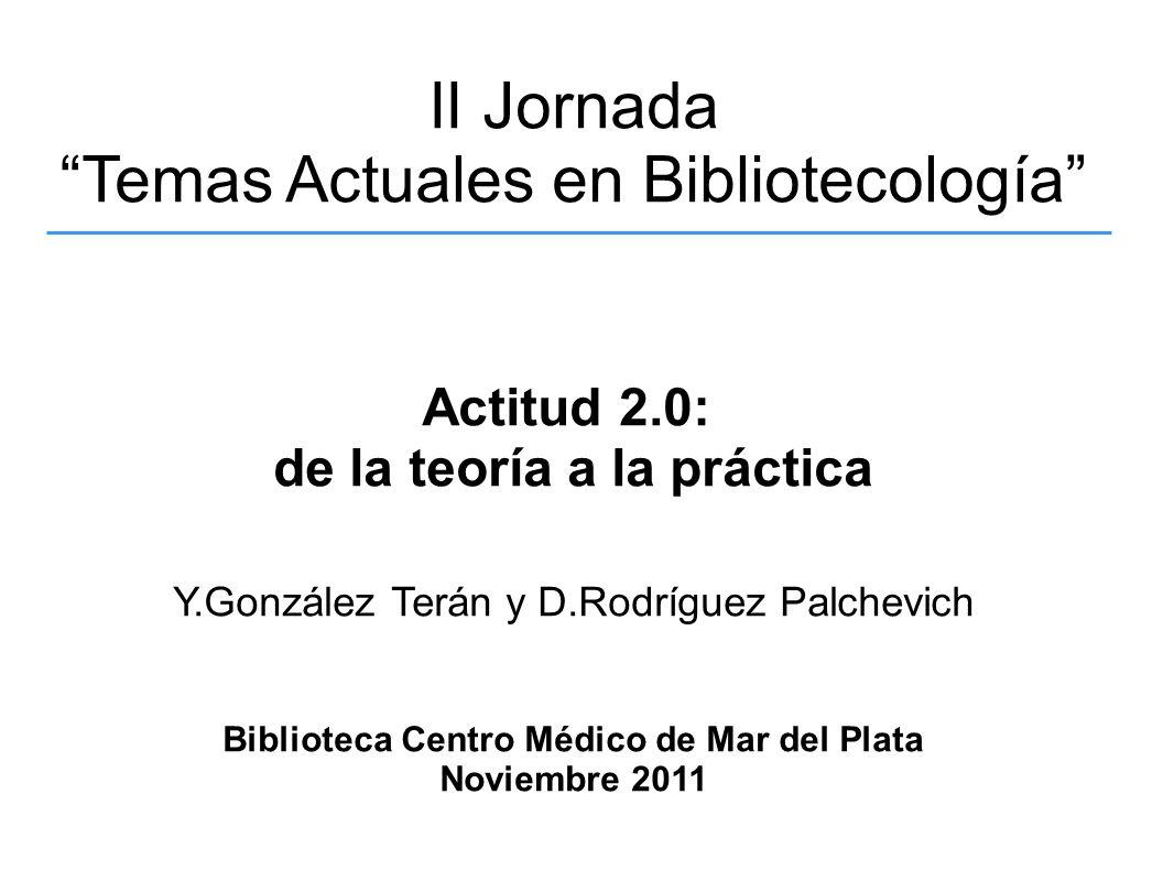 Temas Actuales en Bibliotecología