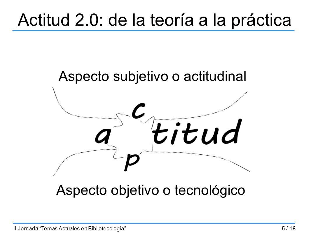 Actitud 2.0: de la teoría a la práctica