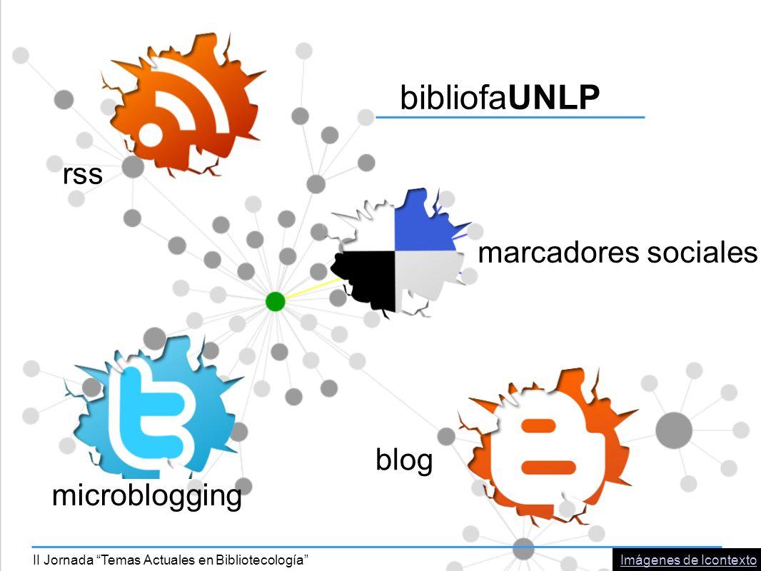 bibliofaUNLP rss marcadores sociales blog microblogging