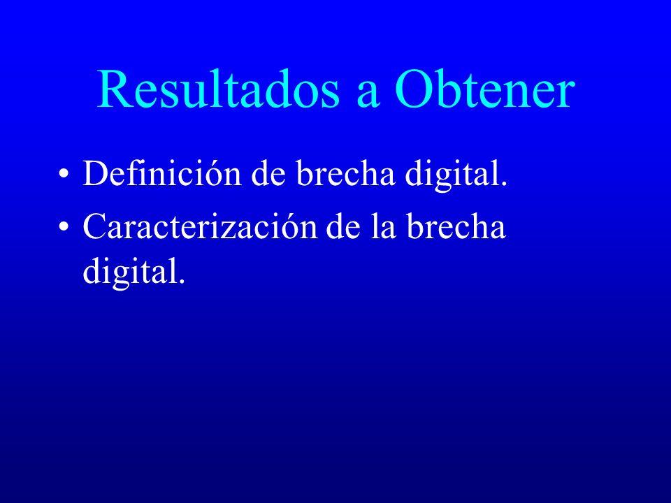 Resultados a Obtener Definición de brecha digital.