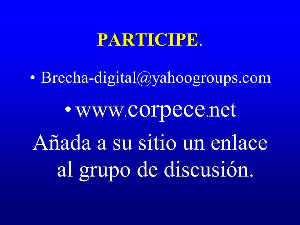 Añada a su sitio un enlace al grupo de discusión.