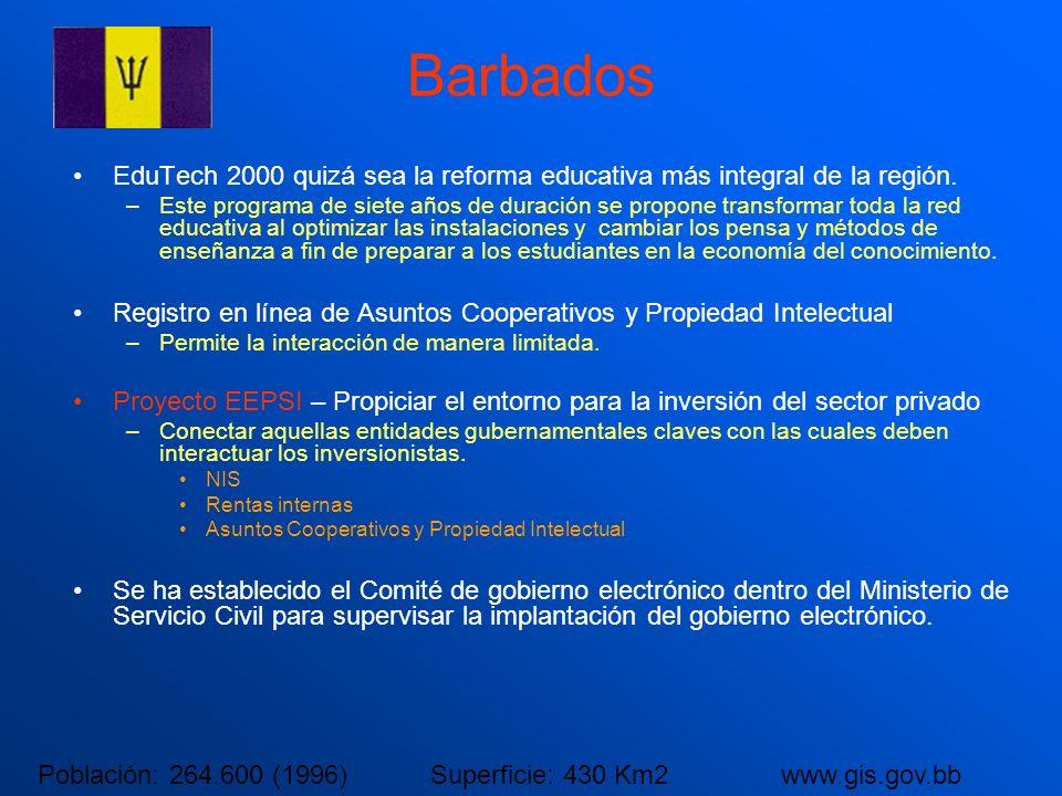 Barbados EduTech 2000 quizá sea la reforma educativa más integral de la región.
