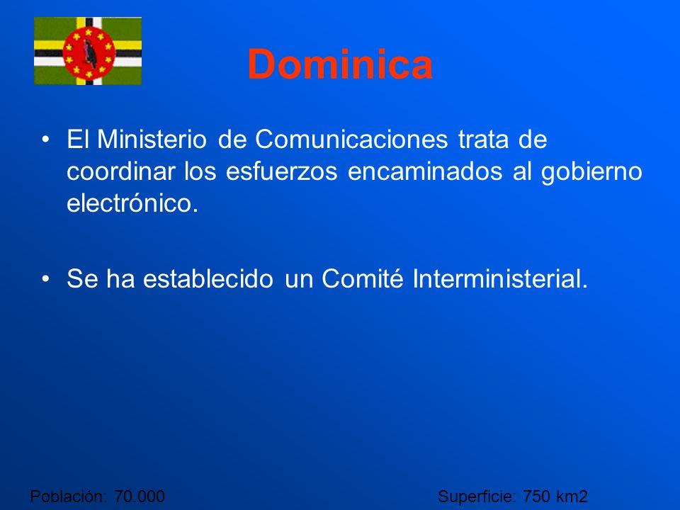Dominica El Ministerio de Comunicaciones trata de coordinar los esfuerzos encaminados al gobierno electrónico.