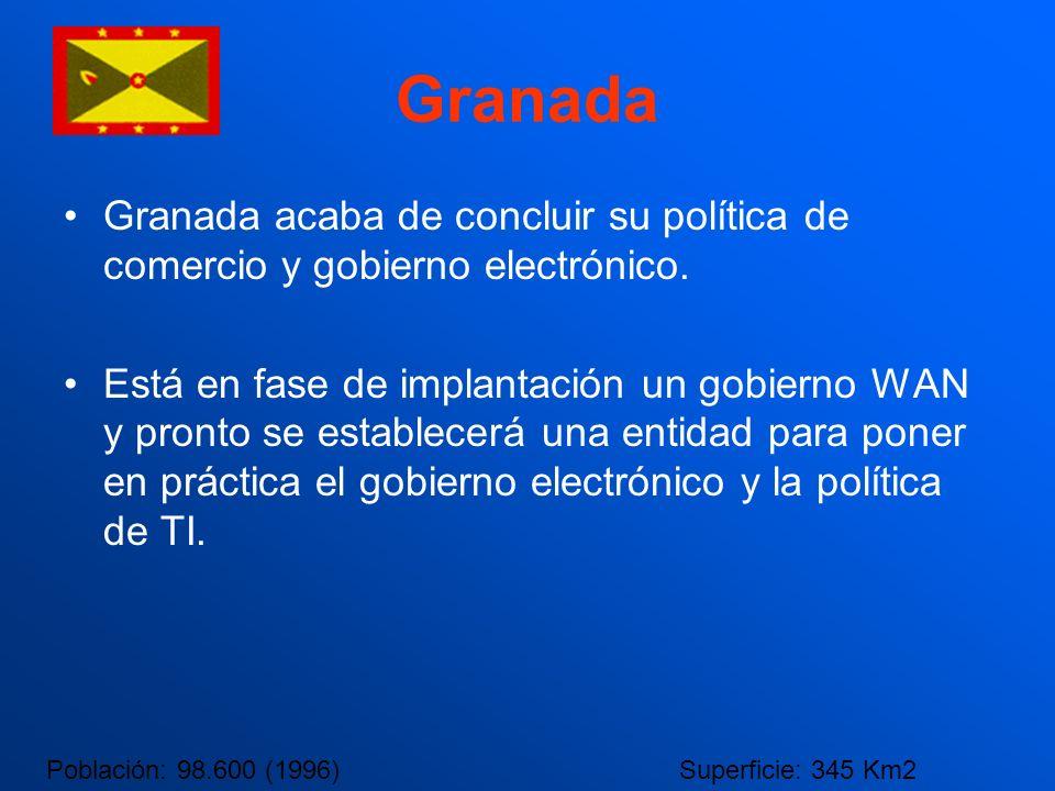 Granada Granada acaba de concluir su política de comercio y gobierno electrónico.