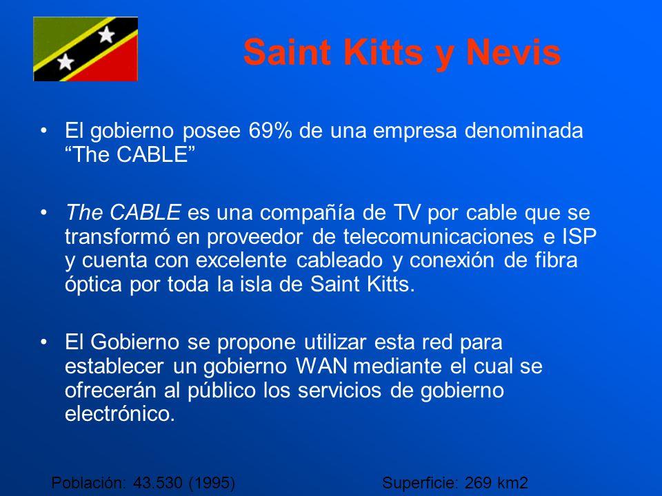 Saint Kitts y Nevis El gobierno posee 69% de una empresa denominada The CABLE