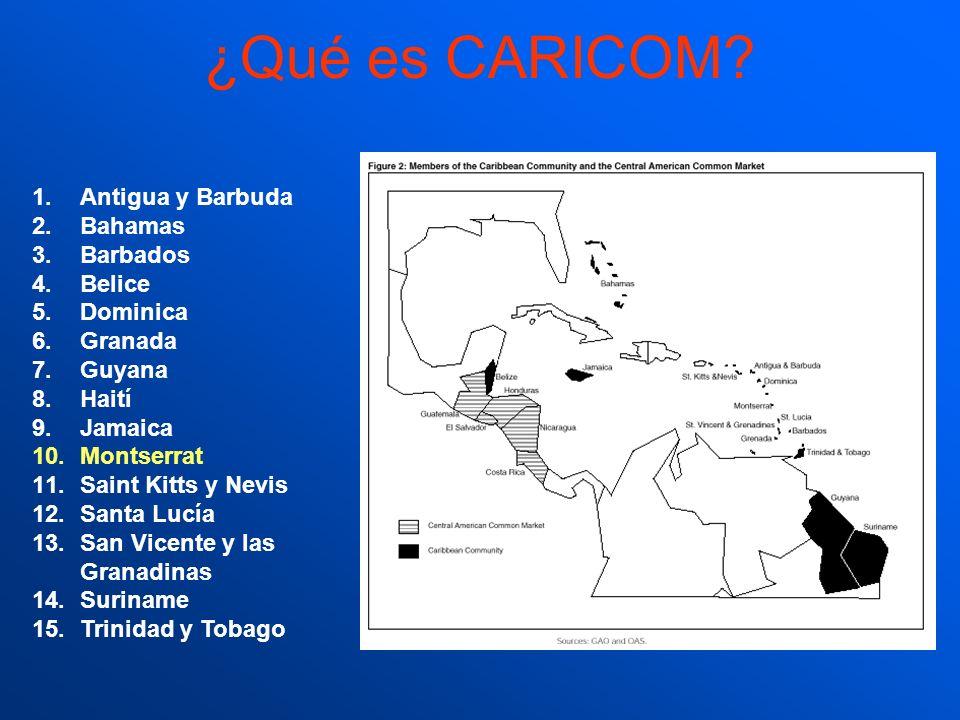 ¿Qué es CARICOM Antigua y Barbuda Bahamas Barbados Belice Dominica