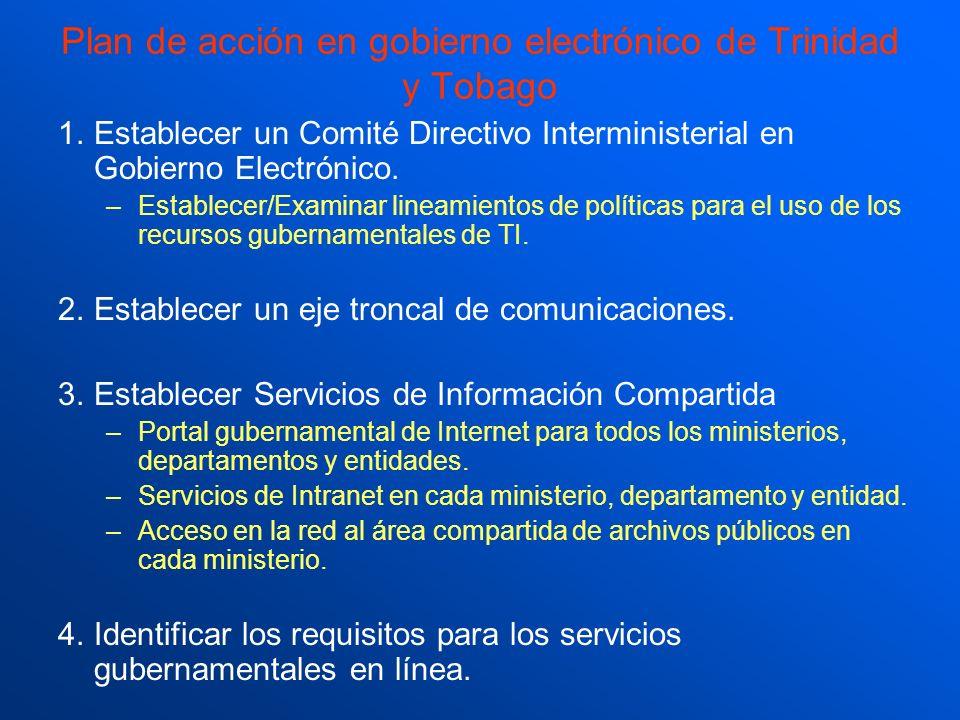 Plan de acción en gobierno electrónico de Trinidad y Tobago
