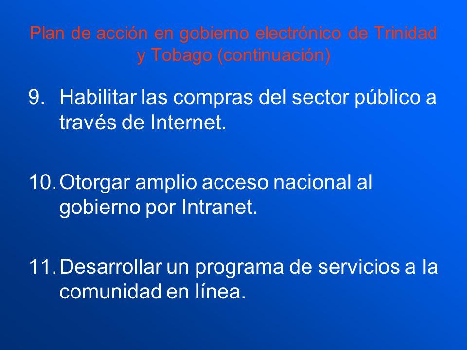Habilitar las compras del sector público a través de Internet.