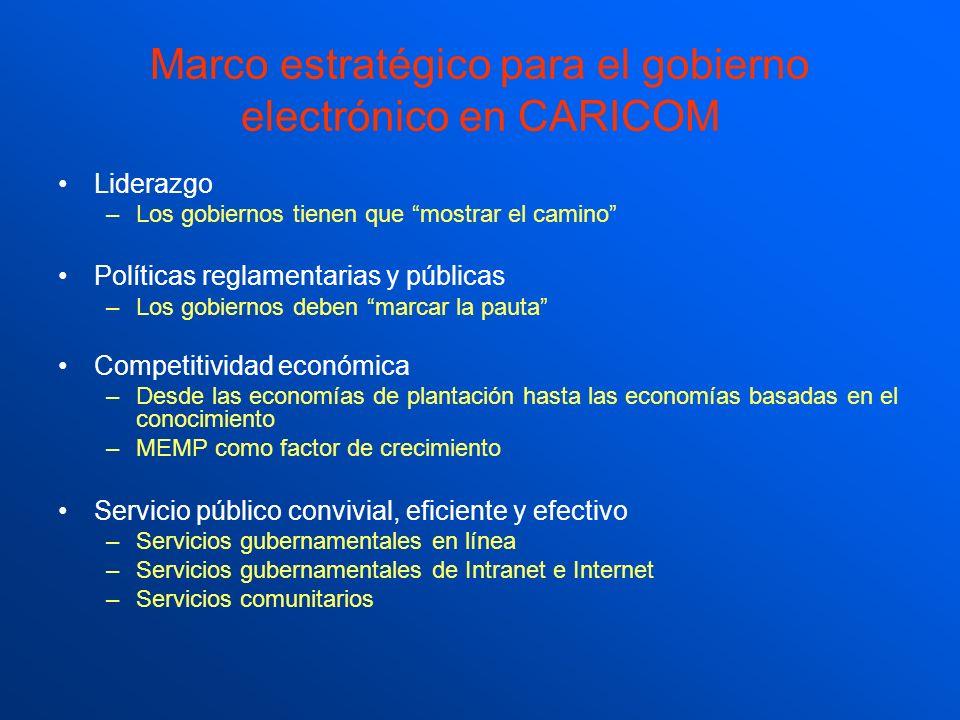 Marco estratégico para el gobierno electrónico en CARICOM