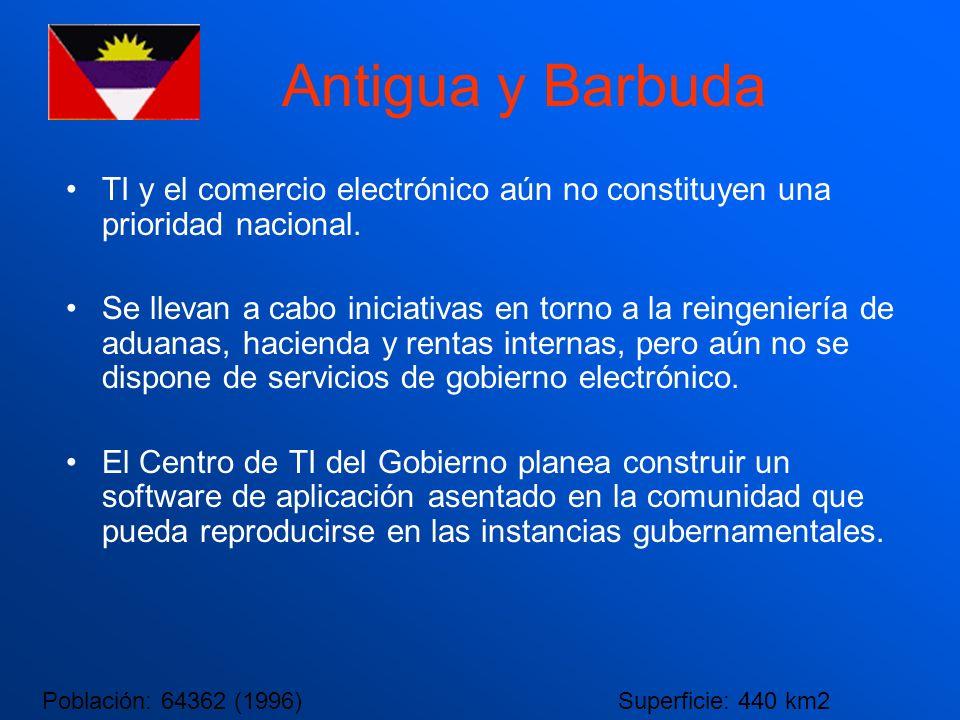 Antigua y Barbuda TI y el comercio electrónico aún no constituyen una prioridad nacional.