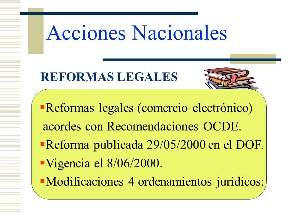Acciones Nacionales REFORMAS LEGALES