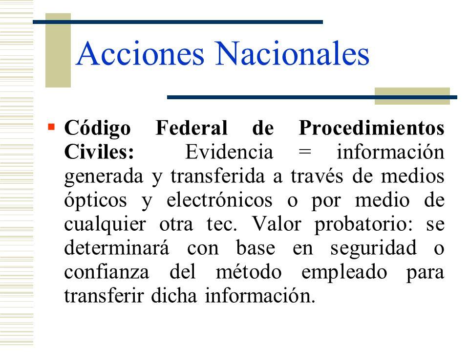 Acciones Nacionales