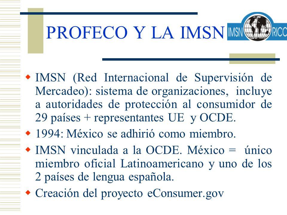 PROFECO Y LA IMSN