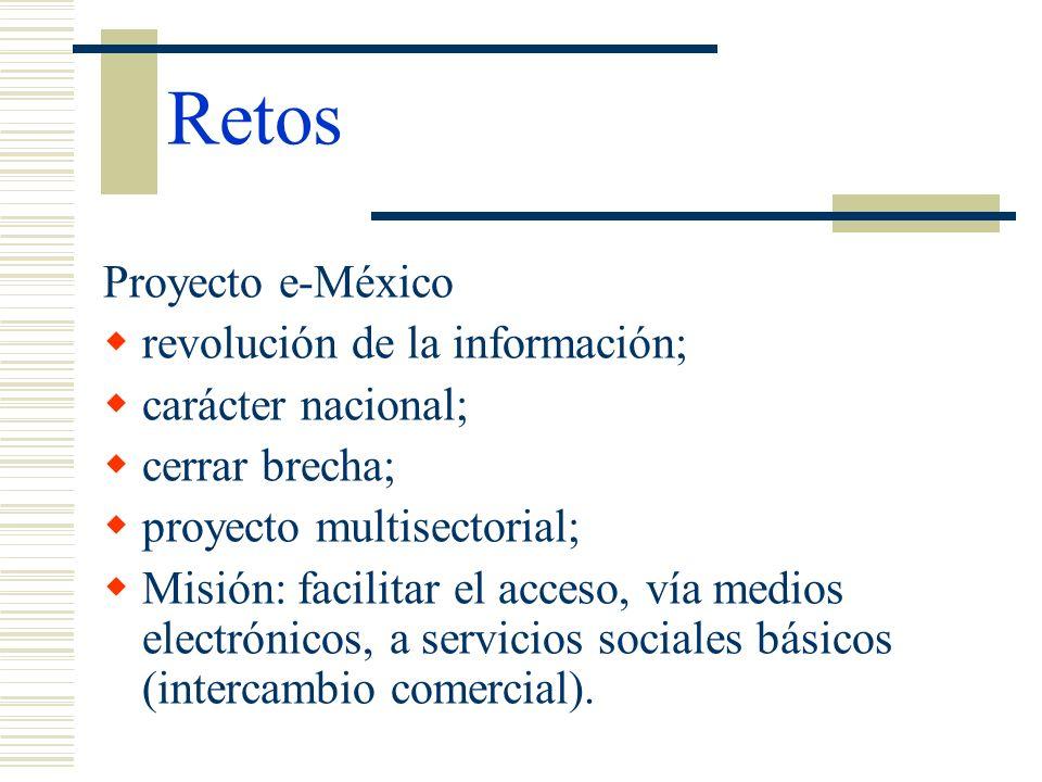 Retos Proyecto e-México revolución de la información;