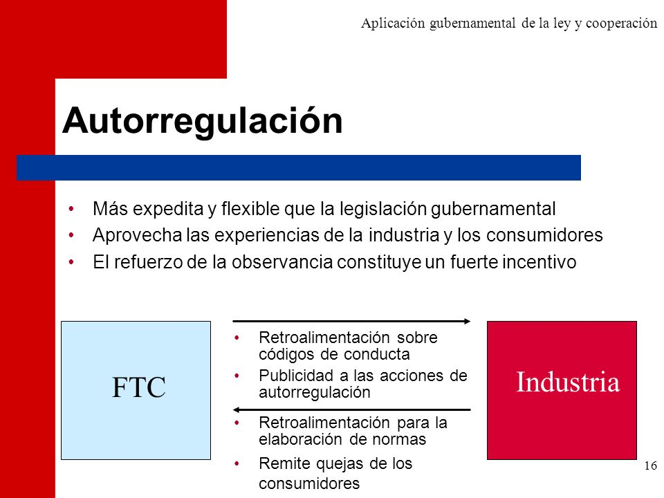 Autorregulación Industria FTC