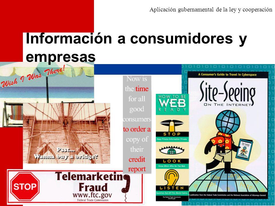 Información a consumidores y empresas
