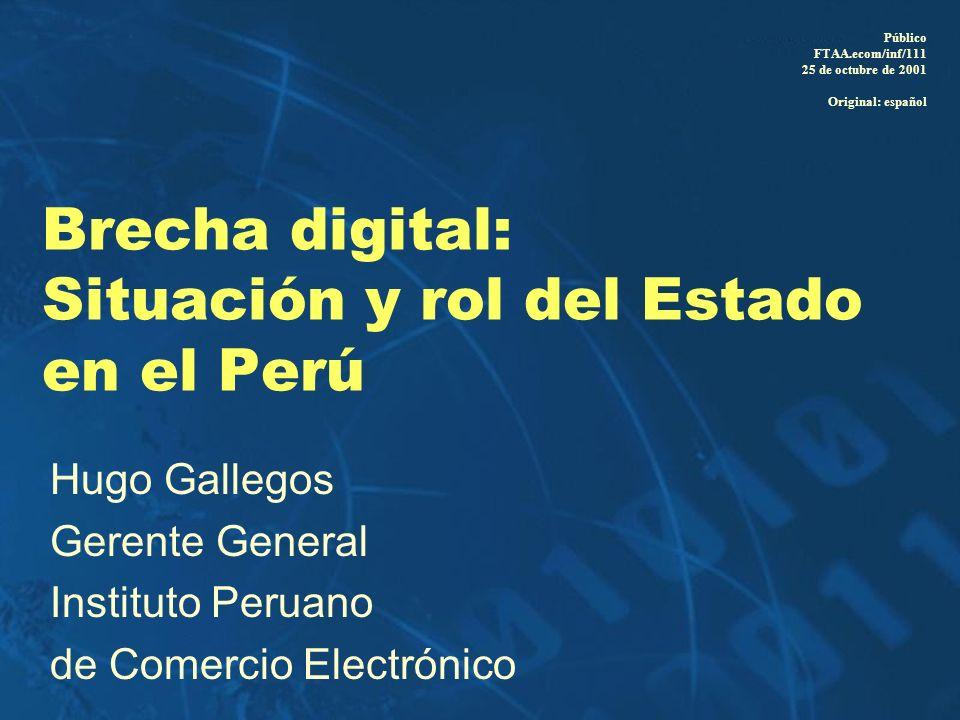 Brecha digital: Situación y rol del Estado en el Perú