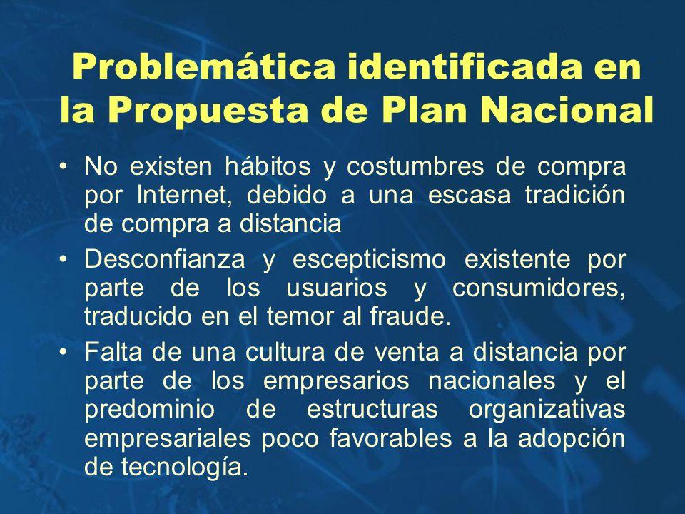 Problemática identificada en la Propuesta de Plan Nacional