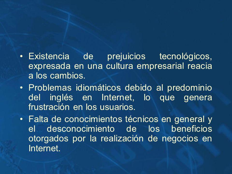 Existencia de prejuicios tecnológicos, expresada en una cultura empresarial reacia a los cambios.